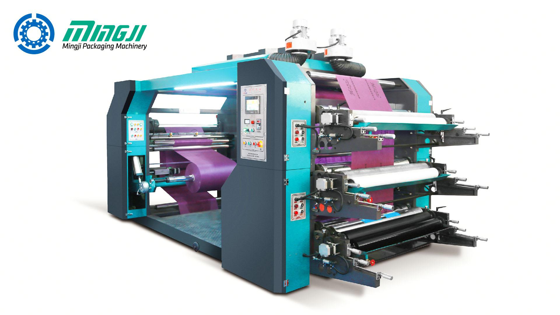 Máquina de Estampado Flexográfico de 3 Colores