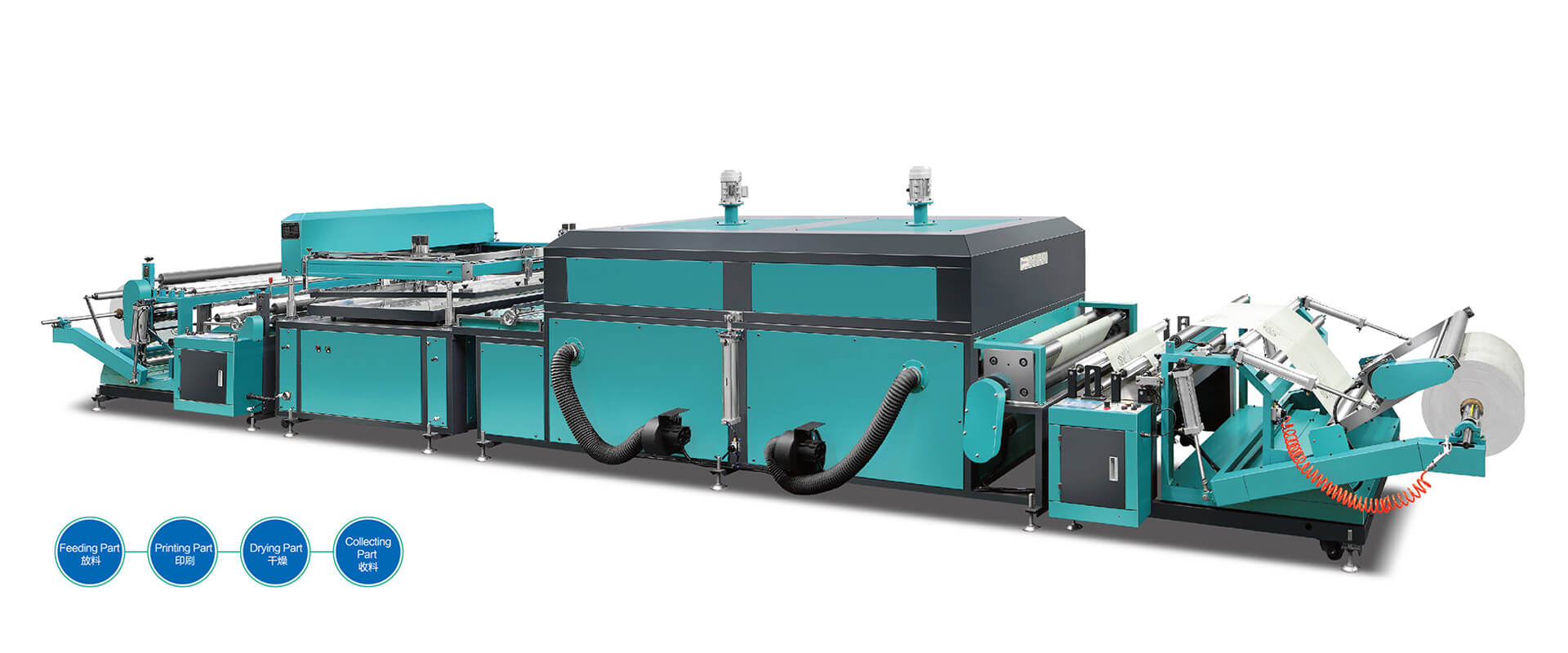 Automatic-Roll-to-Roll-Non-Woven-Screen-Printing-Machine-Single-Color