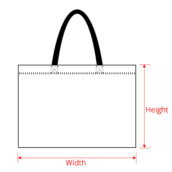 Measurement of handle bag